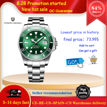 PAGANI DESIGN New Men Mechanical Wristwatch Luxury Ceramic Bezel Automatic Watch Sapphire Glass Watch for Men Relogio Masculino 1