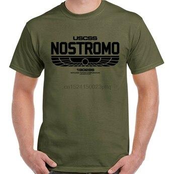 Camiseta Nostromo para hombre, película extraterrestre, Unisex, Top, Alianza de Halloween, Prometheus