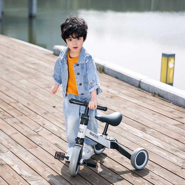 Children's Tricycle Baby Bike Multifunctional Balance Car 3 In 1 Walker Foldable Children Bicycle Bike for Kids 1