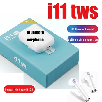 For iphone 7 earphones i11 tws Wireless Bluetooth 5.0 headset Touch Control Earbuds HiFi Sound earbuds 10