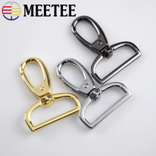 Meetee 38mm Metal Bag Buckle Luggage Clasps Lobster Swivel Trigger Clips Snap Hook  DIY Part Accessories F2-11