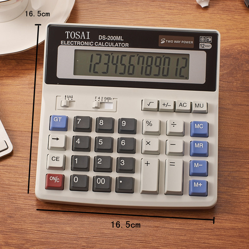 12 Digit Calculator Big Button Financial Business Accounting Student Teacher Tools Large Button image
