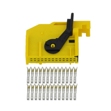 10 Sets 26 pin female yellow car modified harness connector plug with terminal DJ72681-0.6-21 26P