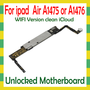 Image 1 - Original Unlock Mainboard For iPad 5 Air A1474  A1475 WLAN Cellular Version Motherboard 16G 32G 64G Logic Mother Board No iCloud