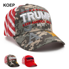 New Donald Trump 2020 Cap Camouflage USA Flag Baseball Caps Keep America Great Again Snapback President Hat Embroidery Drop Ship(China)