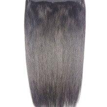"""Chocala волосы 1""""-28"""" Искусственные волосы одинаковой направленности венчик для волос волосы флип в волосах 180 г бразильские натуральные один кусок набор человеческих волос для наращивания"""