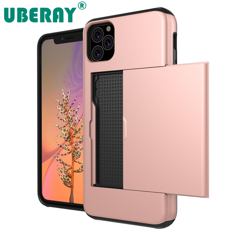 UBERAY <font><b>Spigen</b></font> Slim Armor High Shockproof TPU PC Cell Phone <font><b>Cases</b></font> with Card Slot for <font><b>iPhone</b></font> 11 Pro Max 2019 X XS XR 8 7 6 6S Plus image