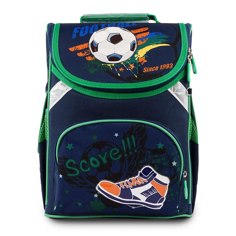 New Delune Band Children Orthopedic School Bag For Kids Boys Football Backpack Satchel Mochila Infantil Primary School Backpacks