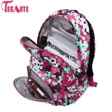 Fashion Women Backpack for Teenager Girls Nylon Waterproof F