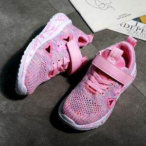 Спортивная обувь для девочек; Сезон осень; Новинка; Детская дышащая обувь с двойной сеткой для больших детей; Розовая детская обувь; Повседневная Милая обувь на плоской подошве|Кроссовки|   | АлиЭкспресс