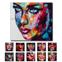 Love Wall Art Oil Painting for Bedroom Wall Decor Knife Face Canvas Oil Painting 100% Hand Painted Museum Quality