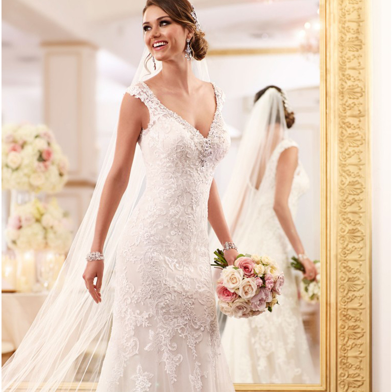 Mermaid Vestido De Noiva 2018 Sexy V Neck Backless Beaded Lace Elegant Casamento Online Shop China Mother Of The Bride Dresses