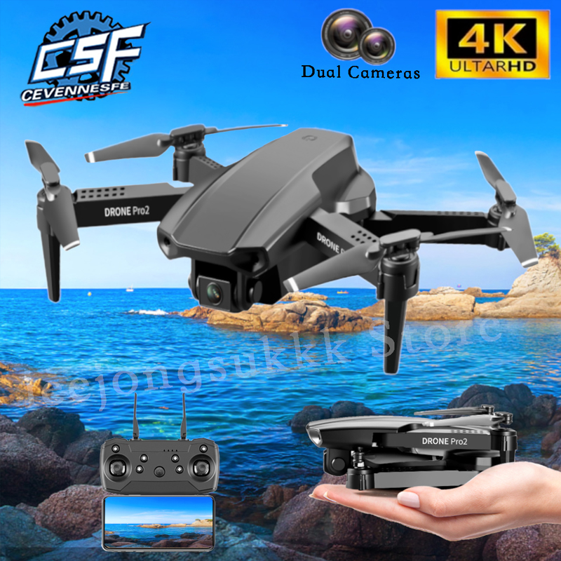 2021 NEW E99 PRO2 Drone 4K HD Dual Camera With WiFi FPV Altitude Hold Mode Profesional Helicopter Foldable Quadcopter RC Drones
