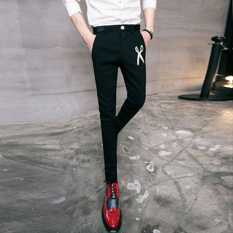 Fashion New Style Trend Men Cone Trousers Autumn Cool Slim Fit Versatile Solid Color MEN'S Casual Pants Men's