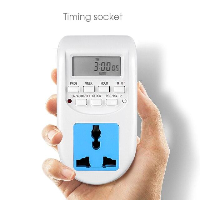 KEBIDU cyfrowa energia ue oszczędzanie energii Timer programowalne elektroniczne gniazdo czasowe Timer sprzęt agd do urządzeń domowych
