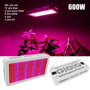 Image 2 - 600 واط/300 واط LED تنمو ضوء الطيف الكامل الأحمر + الأزرق + الأبيض + UV + IR AC85 ~ 265 فولت Led مصباح النبات ل حوض السمك غرفة مساعدة لنمو الفطر البستنة