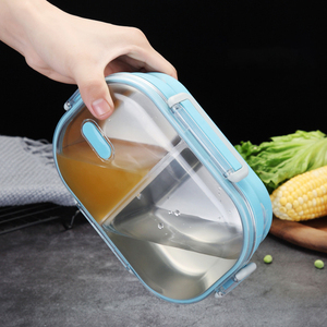 ONEUP Stainless Steel Portable Student Insulated Lunch Box For Kids Kitchen Accessories Leak- Proof Food Container Picnic School