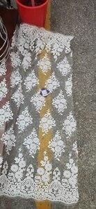 Image 5 - สีขาวล่าสุดไนจีเรีย Tulle ลูกไม้ 2020 ภาษาฝรั่งเศสคำสุทธิ Tull ลูกไม้ผ้าสำหรับไนจีเรียเย็บปักถักร้อยลูกไม้แอฟริกันผ้า L G006