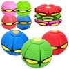 Flying UFO Flat Throw Disc Ball With Fancy Soft Novelty Toy Kid Outdoor Garden Beach Basketball Game Children's Sports Balls