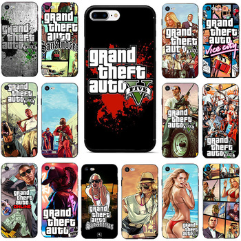 Grand Theft Auto GTA V Soft TPU Phone Case For iPhone 11 11Pro XS Max XR X 8 7 6S Plus 5 5S SE 2020 8Plus TPU Covers Funda Coque image