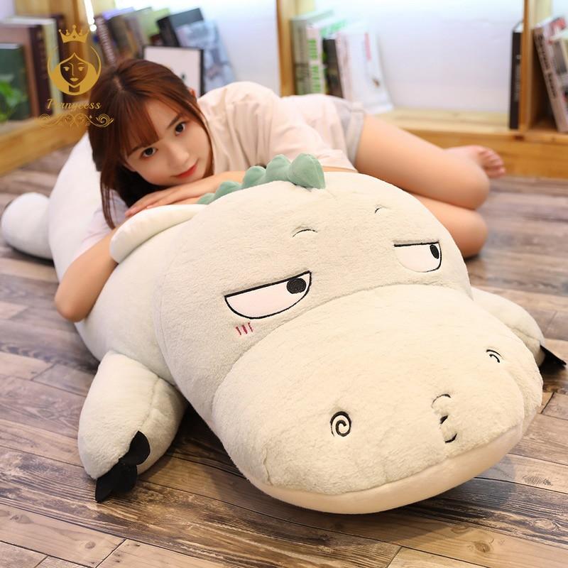 1PCS 65/90/130cm cute dinosaur plush toy large soft stuffed animal pillow child sofa bedroom holiday gift