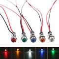5 шт. цвет желтый, синий; размеры 34–43, зеленые, белые, красные IP67 Водонепроницаемый светодиодный металлический индикатор светильник приборн...