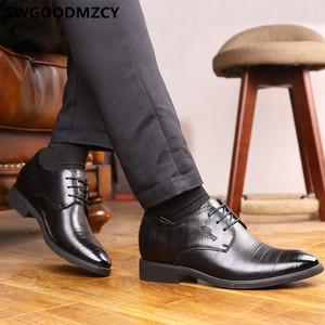 Image 3 - Elevator Shoes For Men Wedding Shoes Men Italian Shoes Men Fashion Zapato Formal Hombre Sapato Social Masculino Scarpe Uomo