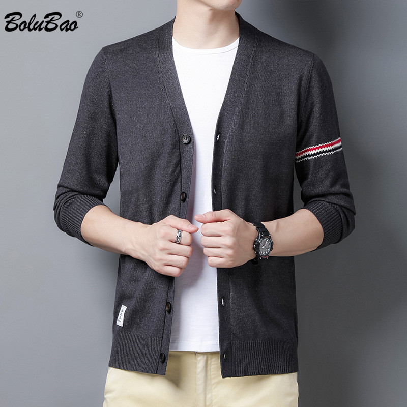 BOLUBAO Fashion Brand Men Cardigan Sweater Autumn New Men's Slim Trendy Casual Sweaters Comfortable Sweater Coat Male Tops