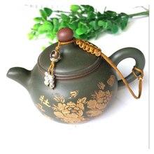 Браслет Крышка чайника ручной работы, дегустация чая, тележка для бутылок кунг-фу, веревка для чашек