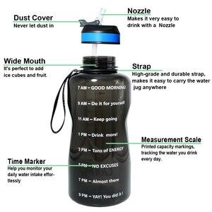 Image 2 - زجاجة مياه كيفيت 2L 1.3L 450 مللي نصف جالون مع شفاطة BPA زجاجات الشراب المحمولة زجاجة البروتين شاكر الصالة الرياضية