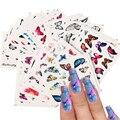 55 Вт, 30 Вт, 12 шт. в упаковке, трафареты в виде бабочек для дизайна ногтей наклейки ползунок наклейки для ногтей цвет синий, черный; Большие раз...