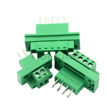 Computer Components Connector KF2EDGWB-5.08 Throughwall Terminal Block Female 2/3/4/8/9/10/12P Plug-in Type With Ear Screw Fixed