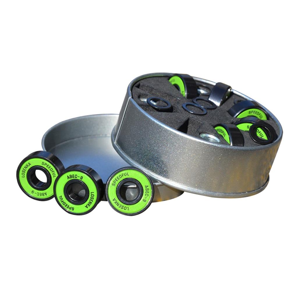 Premium Skateboard Bearings Pro Longboard Bearings ABEC-9 With Storage Box Steel Bearings Skateboard Roller Wheel