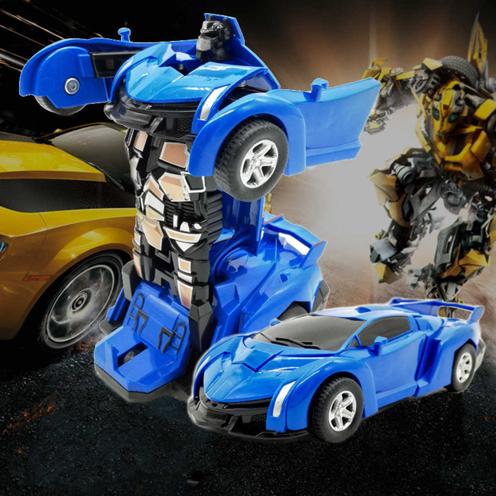 2 Di 1 Deformasi Robot Mobil Model Plastik Mini Robot Transformasi Mainan Mobil Anak Laki-laki Anak-anak Mainan Hadiah Natal