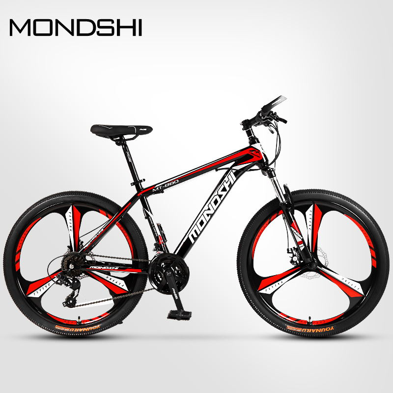 MONDSHI26 inch mountain bike 24 speed disc brake aluminum alloy frame shock absorbing front fork Innrech Market.com