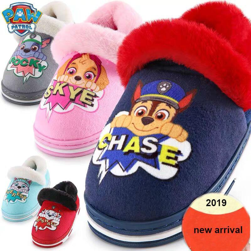 New Genuine Paw Patrol Everest Chse Skye Marshall Children's Shoe Baby Slippers Winter Puppy Patrol Dog Kids Children Toy Doll