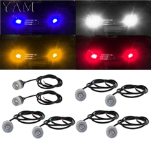 цены YAM 1 Pair 5630 18mm 3Led Concave Mirror Eagle Eye Lamp DRL Daytime Running Light