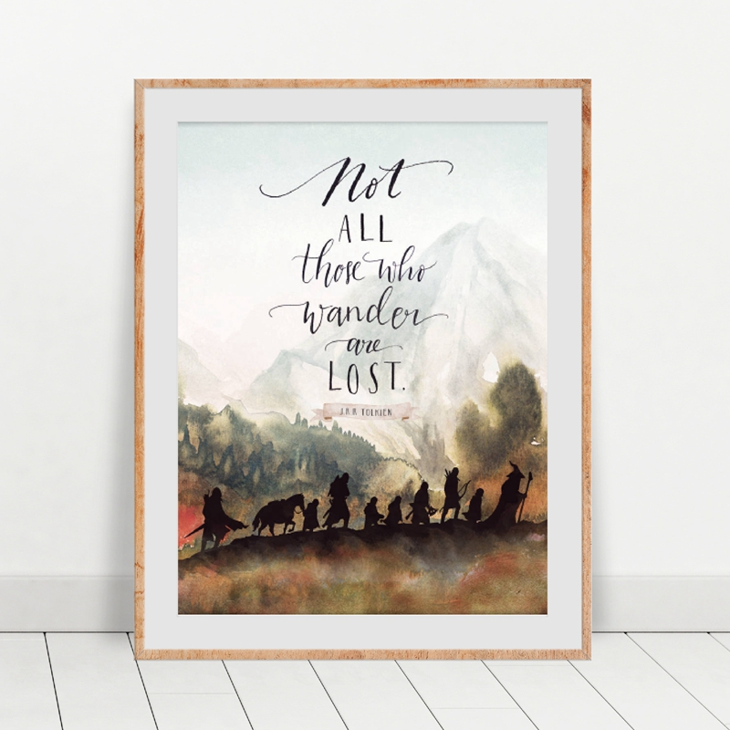Wall Art Canvas Painting Home Decor Lord of The Rings Movie Poster Classic Quotes Prints Modular Nordic Picture for Living Room image