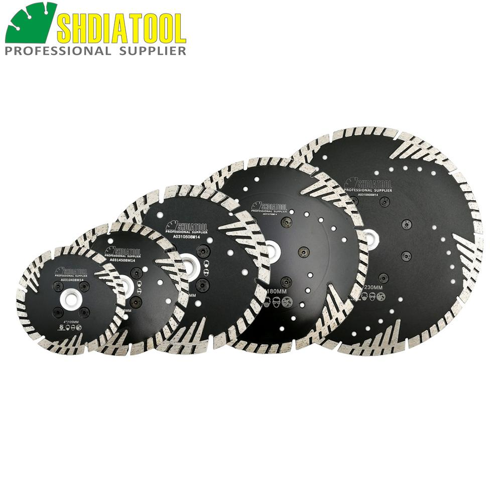 SHDIATOOL Hot Pressed Diamond Turbo Blades Stone Construction Material Diamond Cutting Disc Tile Granite Marble Diamond Blades
