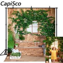 Capisco fotoğraf Backdrop paskalya bahar çiçek Vintage ahşap duvar fotoğraf kabini arka plan yenidoğan çocuk doğum günü stüdyosu sahne