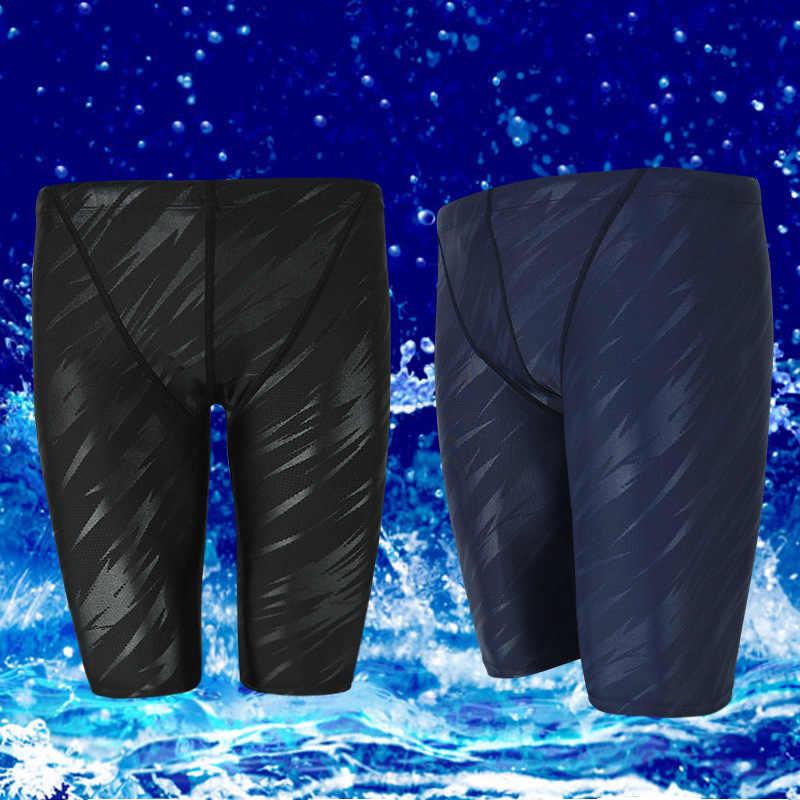 Banfi novo troncos de banho masculino curto pele de tubarão de secagem rápida fontes termais grande tamanho à prova dwaterproof água troncos de natação masculino caso de natação e