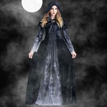 Halloween Cosplay Costumes Scary Vampire Witch Costume for Women Medieval Victorian Masquerade Costume Black Fancy Maxi Dress halloween victorian dress cosplay costumes scary vampire witch clothes women medieval masquerade costume ghost fancy maxi dress