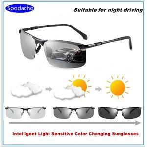 Image 1 - Soodacho Sonnenbrille Mann 2021 Neue Brillen Photochrome Auto Fahrer Brille Sonnenbrille UV Schutz Gläser Brillen