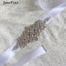 JaneVini New Luxury Bridal Rhinestone Belt for Wedding Dress