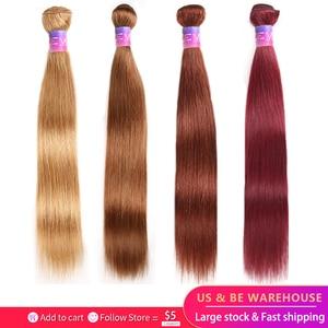 Brazilian Straight Human Hair Bundles KEMY HAIR 8-26 Inch Human Hair Weave Bundles Non-Remy Hair Extensions Can Buy 1/3 Bundles(China)