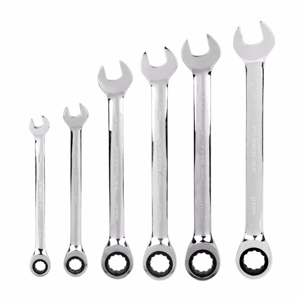 Hand-Tools Metric-Wrench-Set Gear Ratchet-Combination Socket-Nut-Tools-A-Set-Of-Key Torque