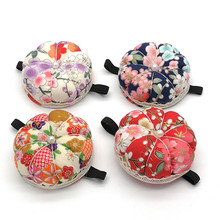 Needle-Pin-Cushion-Holder Sewing-Tools-Accessory Wood-Bottom Diy-Craft with Home 1pc