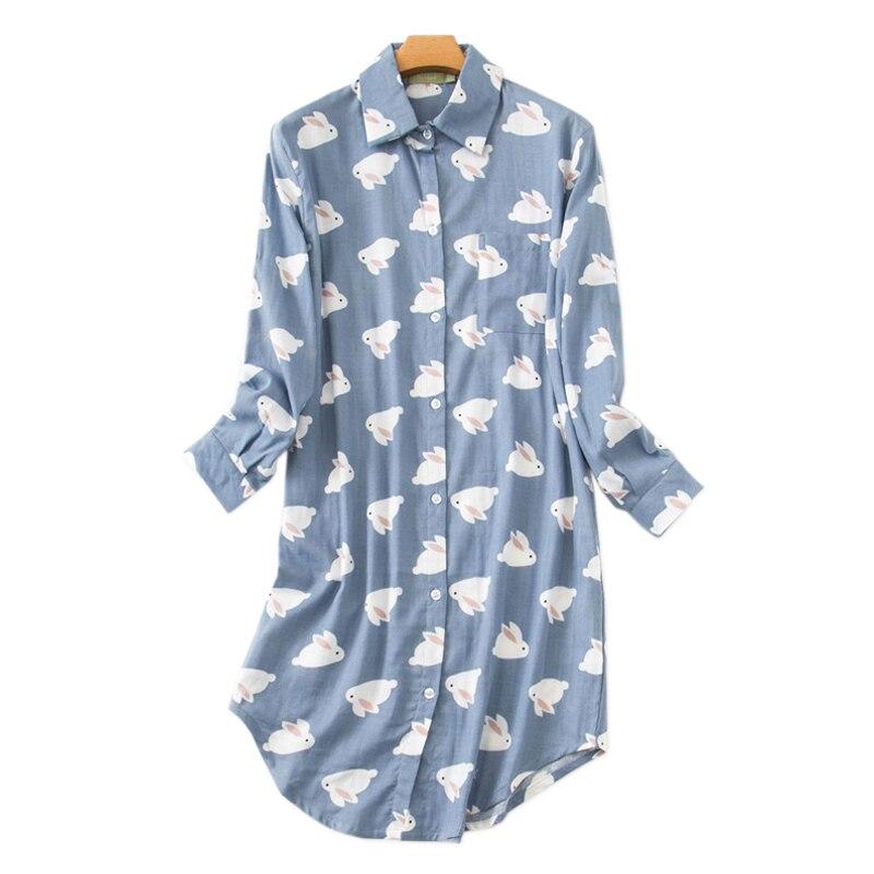 New Summer 100% Gauze cotton night dress women nightgowns Fashion sleepwear women sleepshirts Fresh Plus size Women nightwear