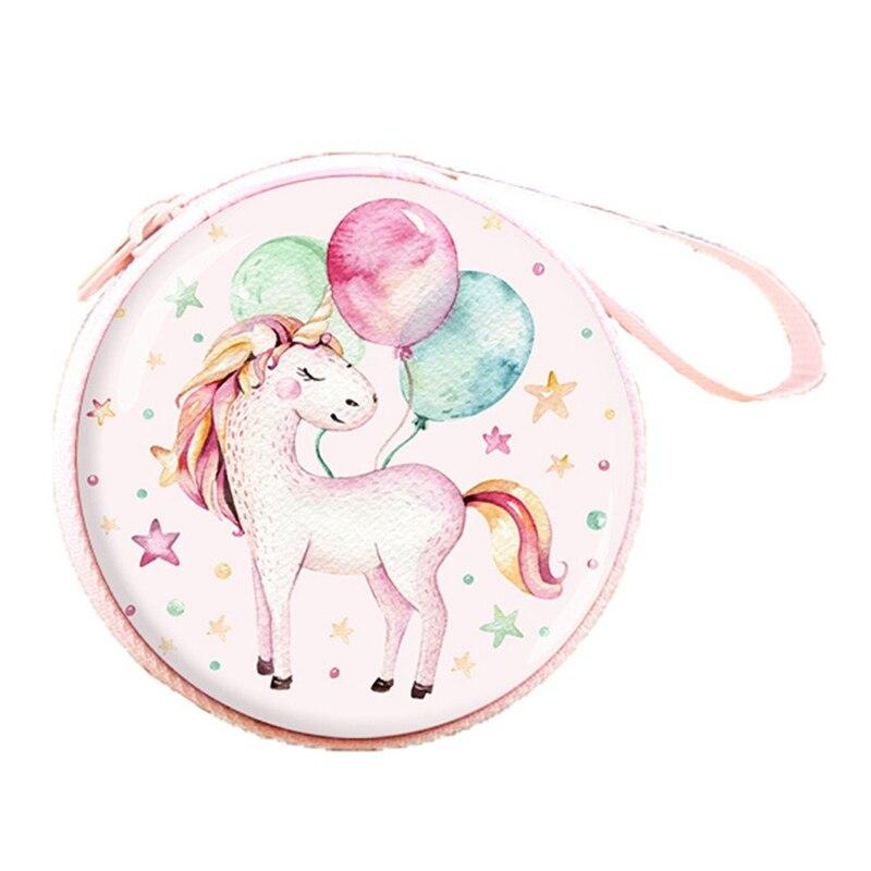 New Women Mini Bag Cartoon Unicorn Coin Purse Cute Children Kids Girls Wallet Earphone Organizer Box Bags Christmas Gift