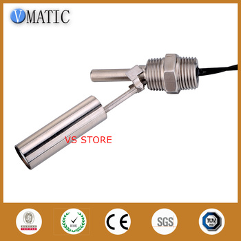 Free Shipping VCL12 Stainless Steel 90 Degrees Side Mount Magnetic Float Level Switches Sensors